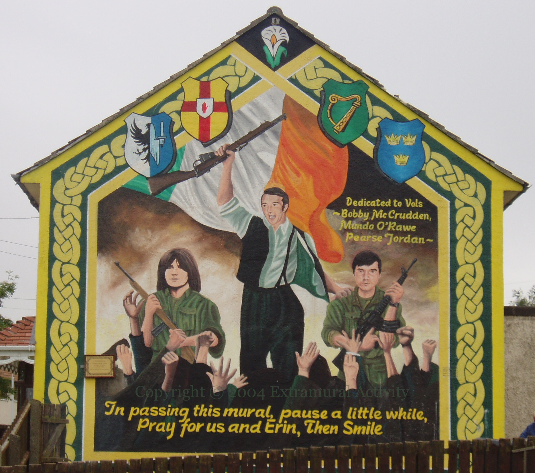 July 2004 extramural activity page 3 for Easter rising mural