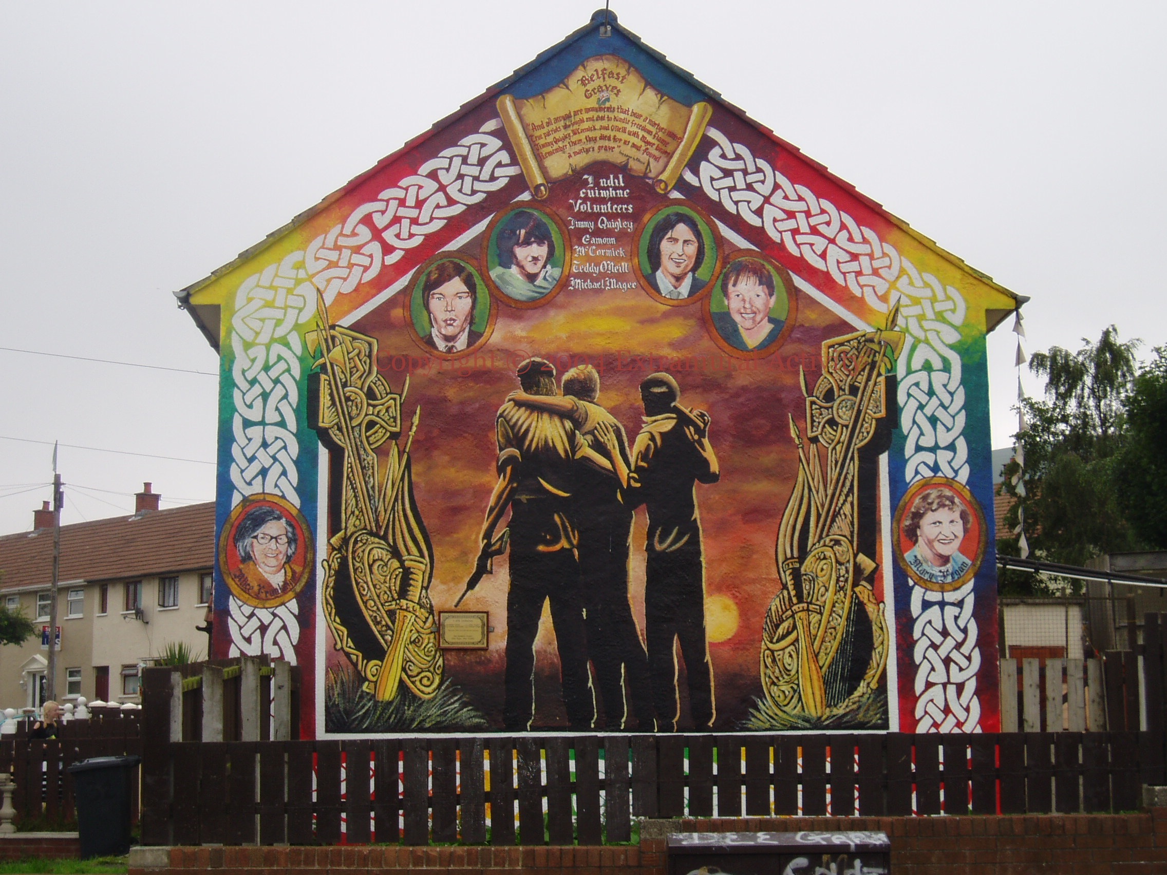 July 2004 page 3 extramural activity for Murals belfast