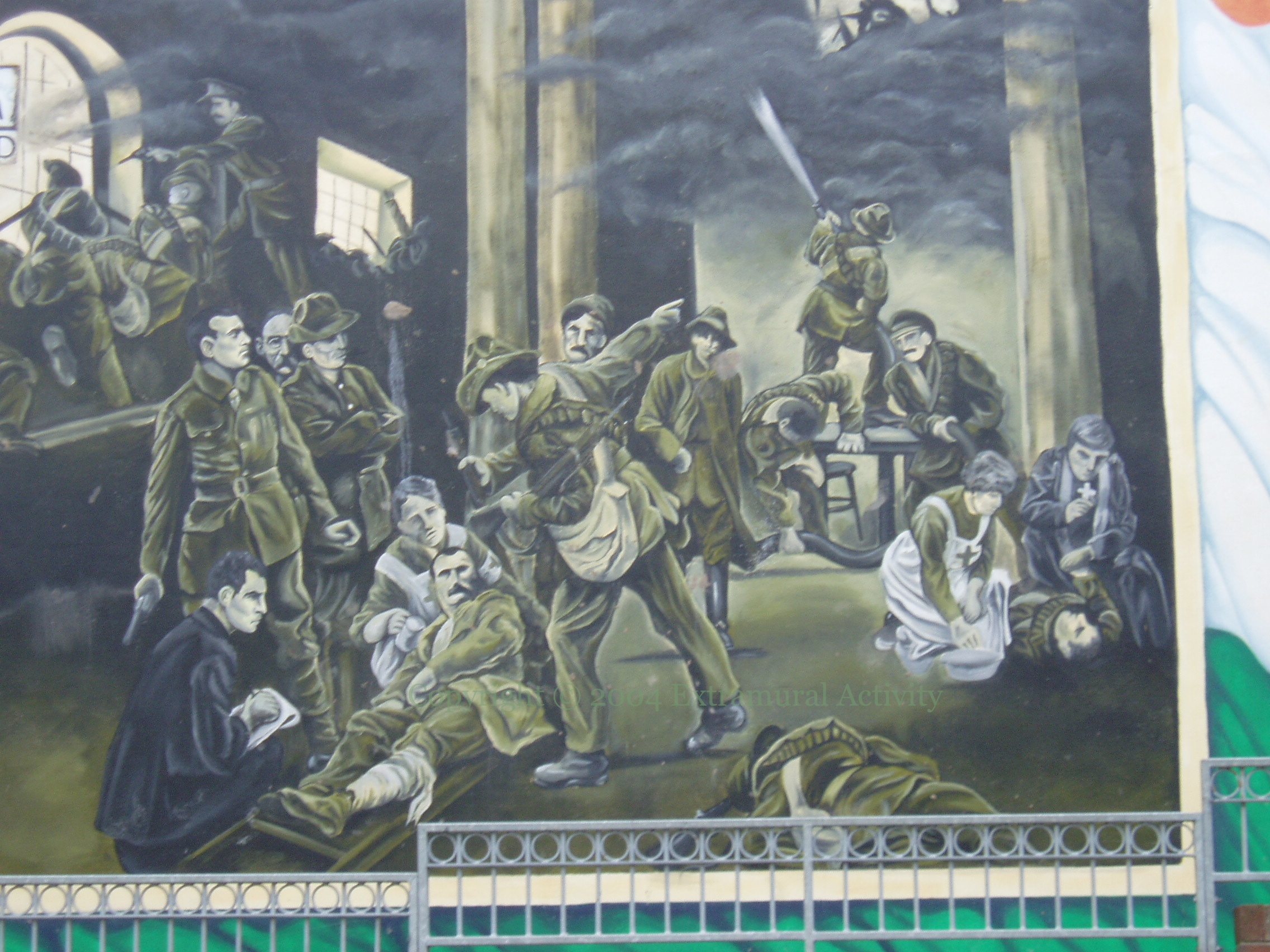 The birth of the irish republic extramural activity for Easter rising mural