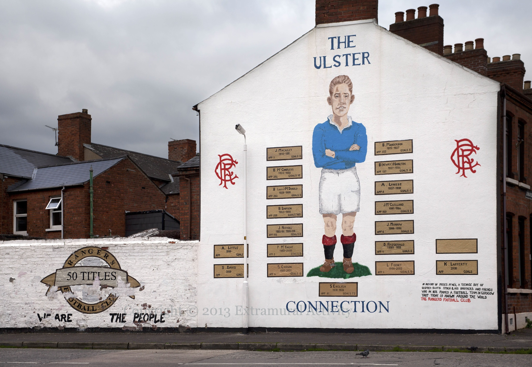 The ulster connection extramural activity for Mural belfast