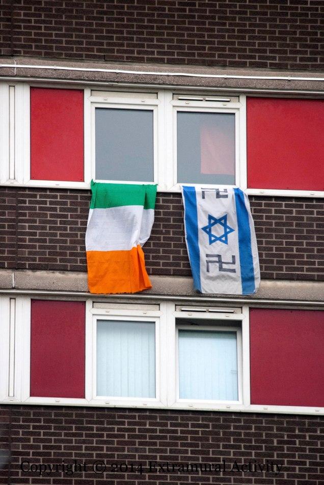 2014-08-03 IsraeliFlagSwastika+