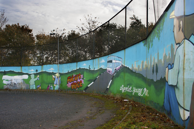 Graffiti wall activity - Occupied Ireland S Bus Circle